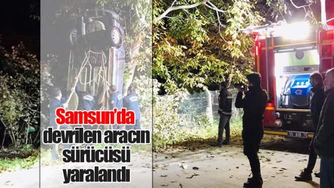 Samsun Haberleri: Samsun'da Araç Devrildi