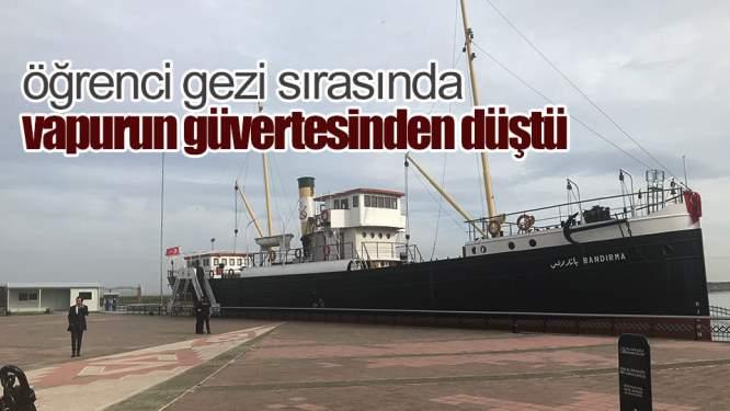 Samsun Haberleri: Öğrenci Samsun'da Müze Olarak Kullanılan Vapurdan Düştü