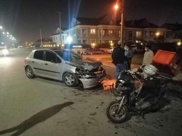 Kazada ağır yaralandı yoğun bakımda yer olmayınca Bolu'ya sevk edildi