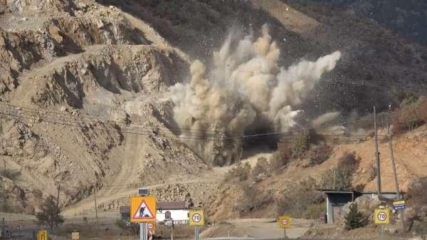 Tokat-Sivas kara yolunda patlatma
