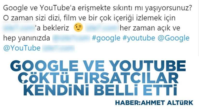 Google ve Youtube çöktü