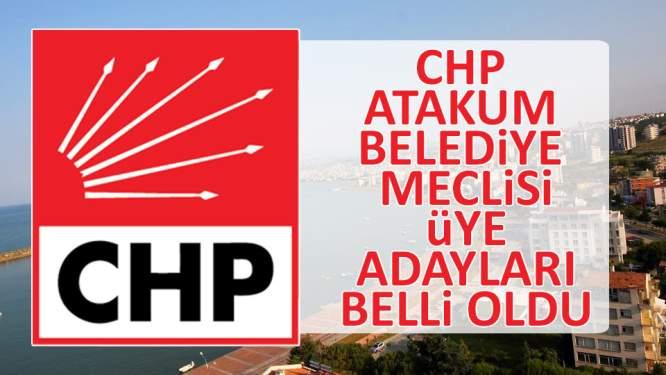 CHP Atakum belediye meclisi üye adayları