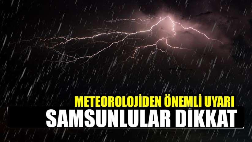 Samsun hava durumu 22 Mayıs Cuma
