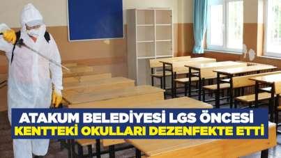 Atakum Belediyesi LGS öncesi kentteki okulları dezenfekte etti