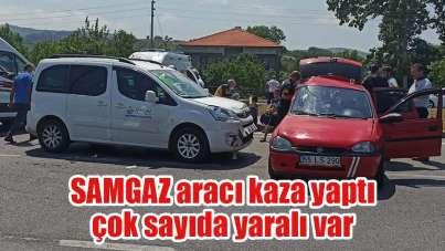 Samsun'da trafik kazası: 8 yaralı