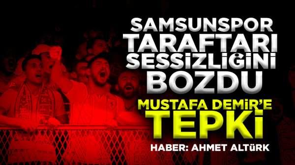 Samsunspor taraftarından Mustafa Demire tepki