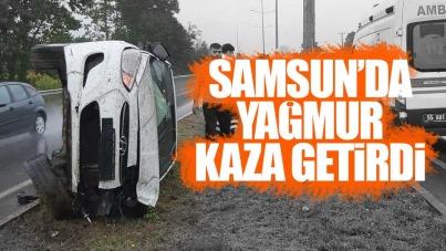Samsun'da yağmur kaza getirdi
