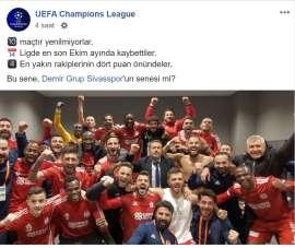UEFA'dan Sivasspor paylaşımı!