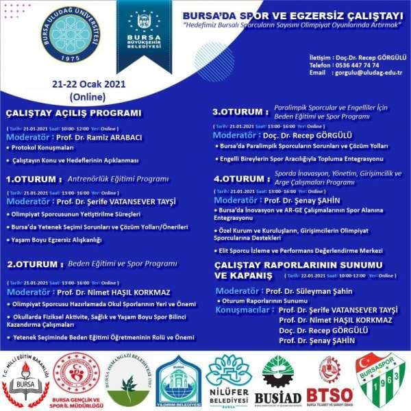 Bursa'da spor ve egzersiz çalıştayı