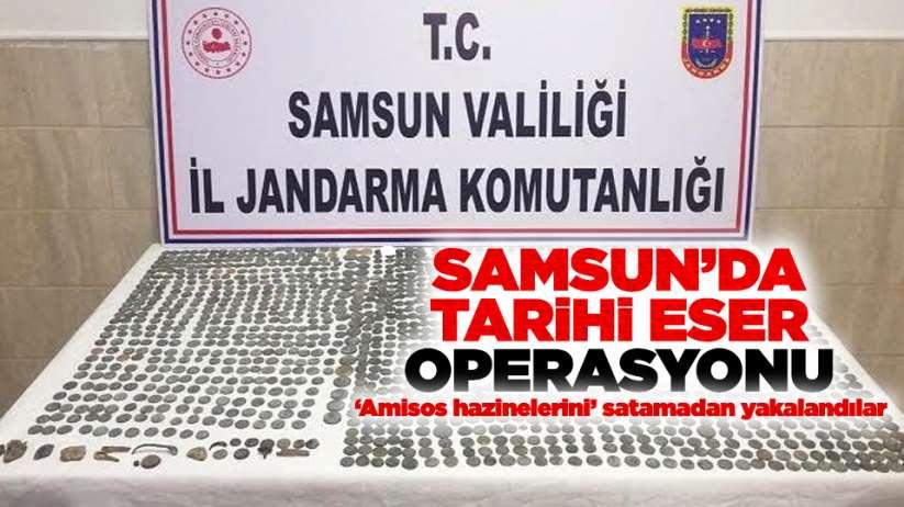 Samsun'da tarihi eser operasyonu!