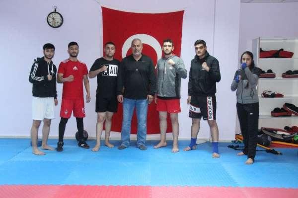 Avrupa Kupasına hazırlanan Elazığlı kick-boksçuların hedefi şampiyonluk