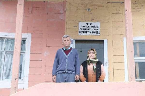 Heyelanda evi yıkılan 8 kişilik aile okulda yaşıyor