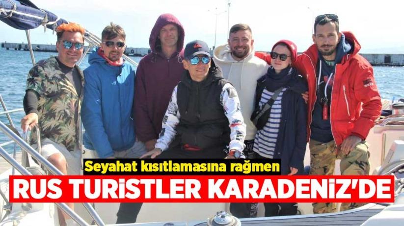 Seyahat kısıtlamasına rağmen Rus turistler Karadenizde