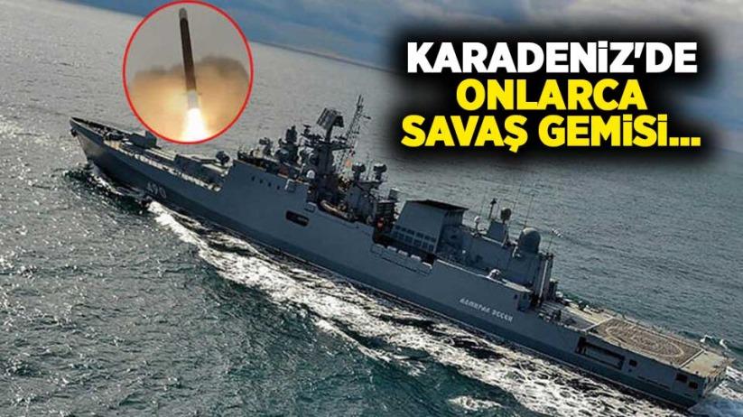 Karadenizde onlarca savaş gemisi...