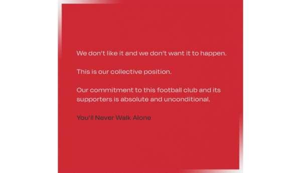 Liverpoolda futbolcular Avrupa Süper Ligini istemiyor