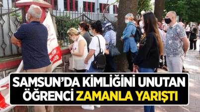 Samsun'da kimliğini unutan öğrenci zamanla yarıştı