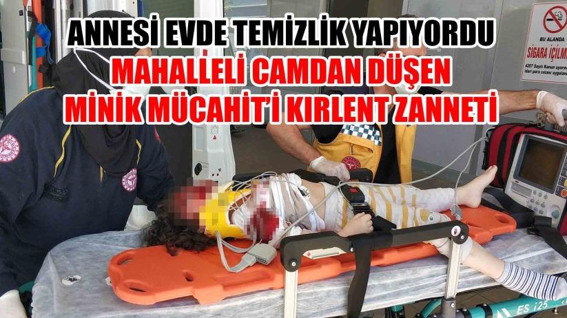 Samsunda 3. kattan düşen çocuk ağır yaralandı