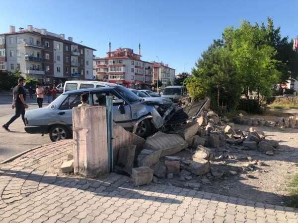 Kazada yıkılan duvarın altında kalan 8 yaşındaki çocuk yaralandı