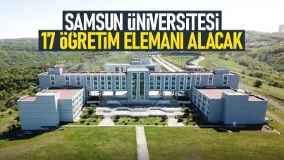 Samsun Üniversitesi 17 Öğretim Elemanı alacak
