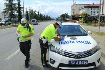 Ordu'da bir haftada 137 araç trafikten men edildi