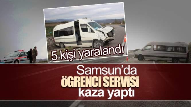 Samsun Haberleri: Samsun'da Öğrenci Servisi İstinat Duvarına Çarptı