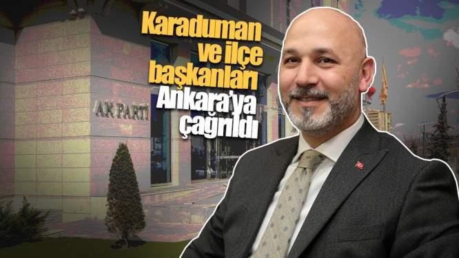Samsun Haberleri: Karaduman ve ilçe başkanları Ankara'ya çağrıldı