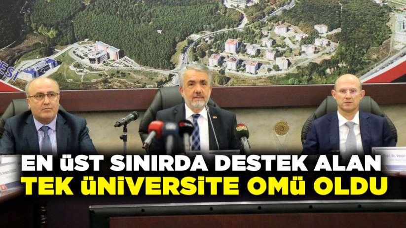 En üst sınırda destek alan tek üniversite OMÜ oldu