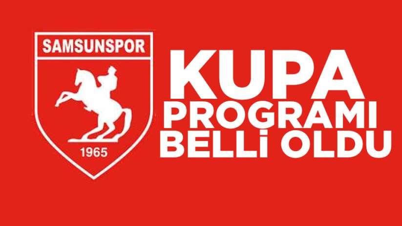 Samsunspor'da Kupa Programı Belli Oldu