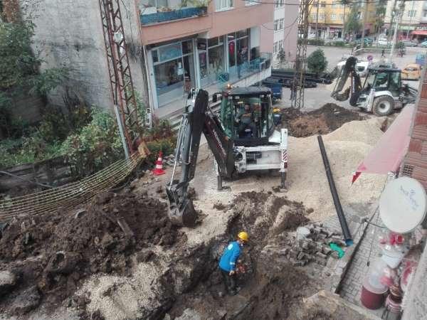 Kumru'da alt ve üst yapı çalışmaları sürüyor