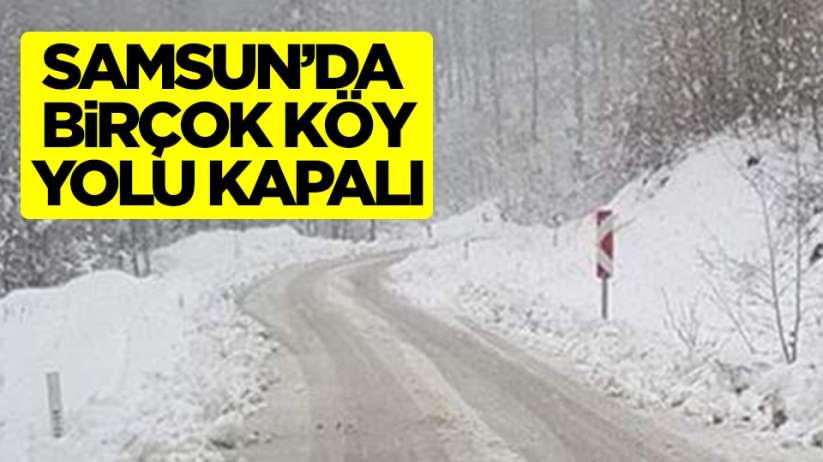 Samsun'da köy yolları ulaşıma kapandı