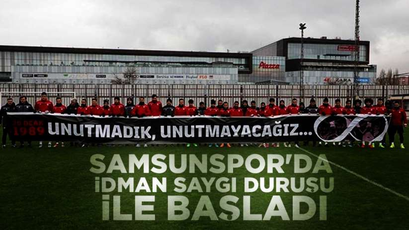 Samsunspor'da idman saygı duruşu ile başladı