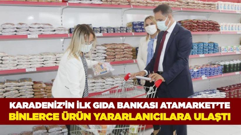 Karadenizin ilk gıda bankası AtaMarkette binlerce ürün yararlanıcılara ulaştı
