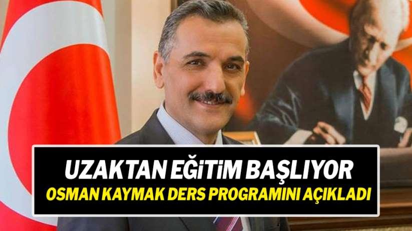 Samsun Valisi Osman Kaymak, uzaktan eğitimin ders programını paylaştı