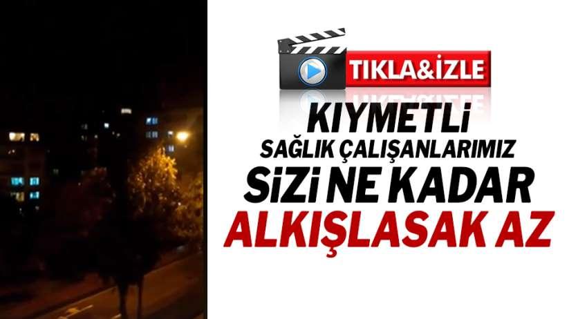 Samsun'da sağlık çalışanlarına bir kez daha destek