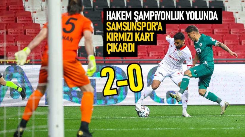 Samsunspor sahasında Giresunspora 2-0 yenildi