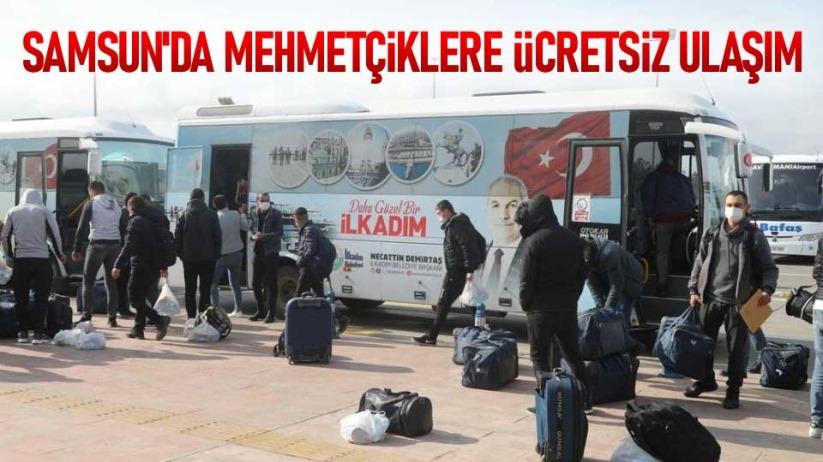 Samsunda Mehmetçiklere ücretsiz ulaşım