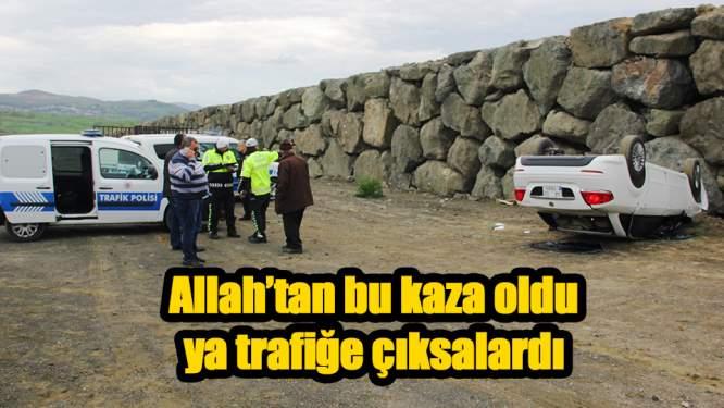 Samsun'da alkol alıp kaza yaptılar