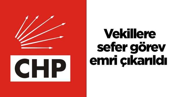 CHP milletvekillerine 23 Haziran için sefer görev emri