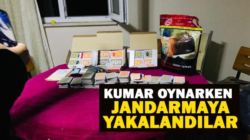 Samsunda kumar oynarken jandarmaya yakalandılar