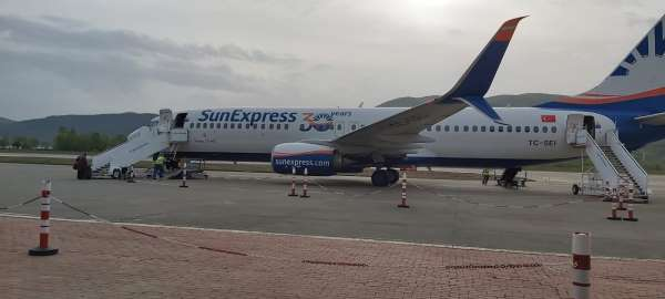 Zonguldak Havaalanının ilk yolcu uçağı Almanyaya uçtu