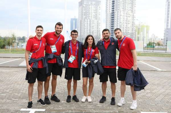 Avrupa Oyunların'da Takım Bayrak Töreni düzenlendi