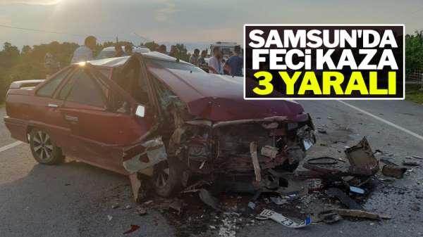 Samsun'da Feci Kaza :3 Yaralı