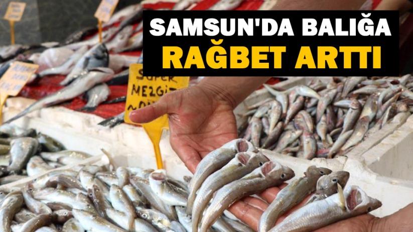 Samsunda balığa rağbet arttı