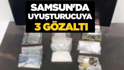 Samsun'da uyuşturucuya 3 gözaltı