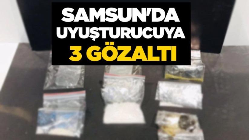 Samsunda uyuşturucuya 3 gözaltı