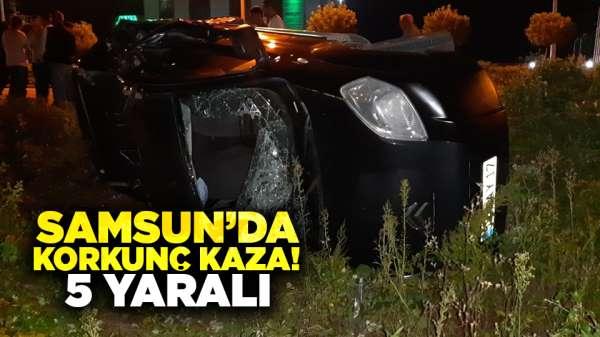 Samsun'da korkunç kaza! 5 yaralı