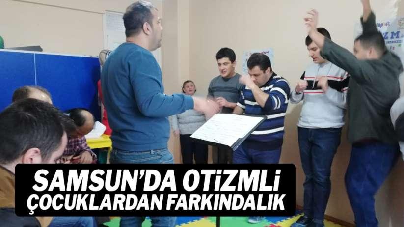 Samsun'da otizmli çocuklardan farkındalık