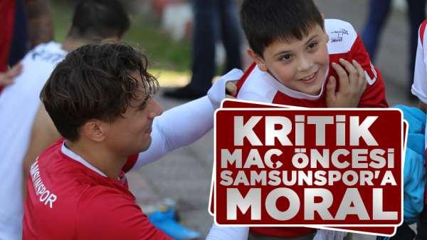 Samsunspor Manisa FK maç öncesi Samsunspora moral