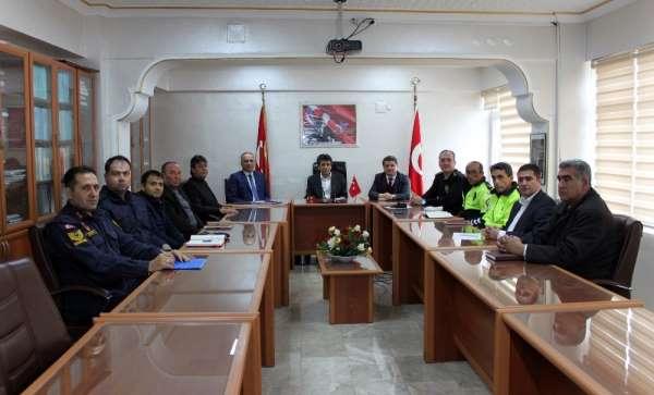 Erdemli'de otobüs kazalarının önlenmesine yönelik toplantı