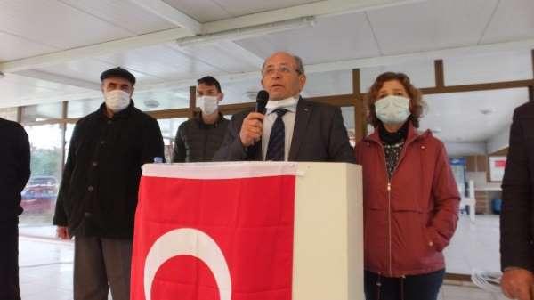 Balıkesirde taciz suçundan aklanan site yönetimi başkanı basın açıklaması yaptı